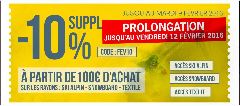 10% de réduction supplémentaire sur les soldes dès 100€ d'achat