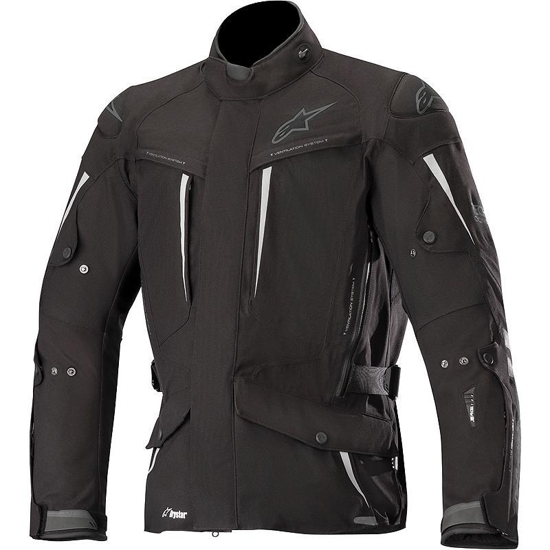 Veste moto en textile Alpinestar Yaguara - Drystar, Etanche, Protections coudes / épaules niveau 2, Poche protection thoracique / dorsale
