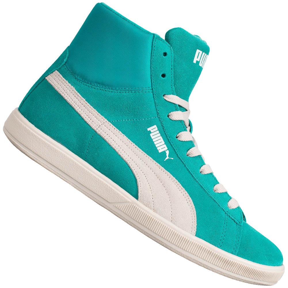 Chaussures Puma Suede Lite Mid - Fushia ou Vert d'eau (du 37 au 45)