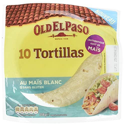 Lot de 8 paquets de 10 tortillas Old El Paso Au Maïs Blanc - 10x208 g