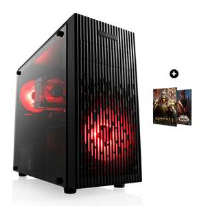 Pc Fixe Mini Fury - Ryzen 5 3600, RX 5600 XT Red Dragon, 16Go RAM (3000 mHz), 500Go SSD NVMe, sans OS + Godfall & WoW: Shadowlands sur PC