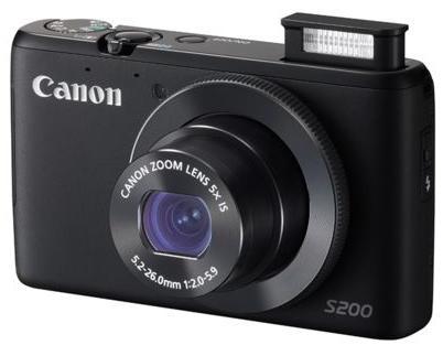 Appareil photo Canon PowerShot S200 - Noir