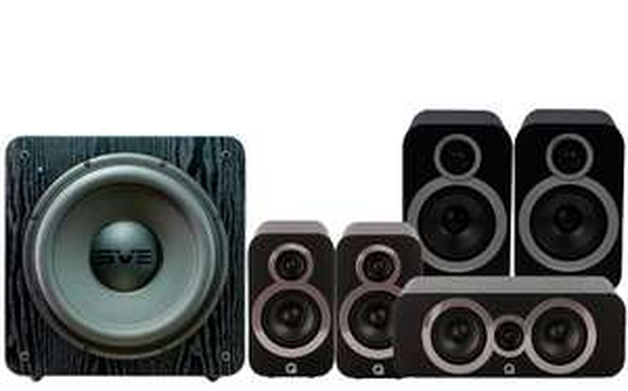 Pack d'Enceintes Home Cinéma Q Acoustics 3030i Cinema Pack + Caisson de basses SVS SB2000