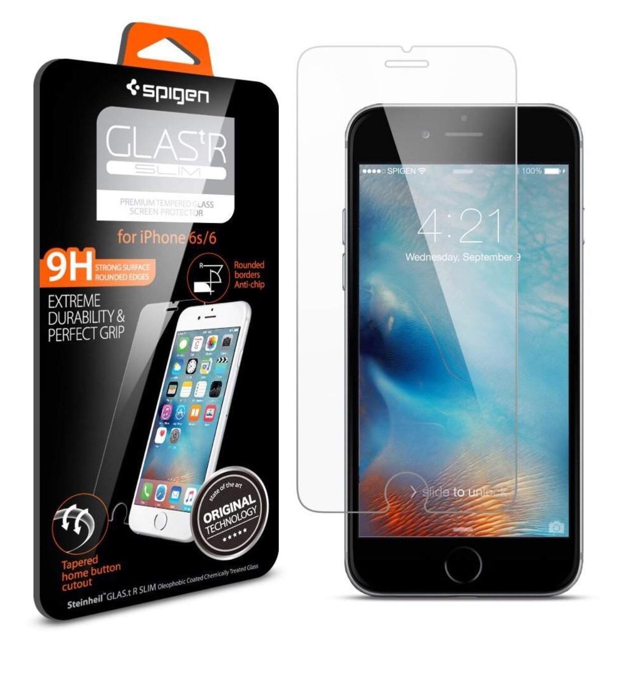 Protection Verre Trempé Spigen pour iPhone 6/6s