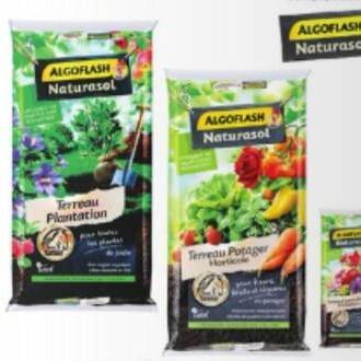 Lot de 2 sacs de 40 litres de terreau plantation Algoflash - 2x 40L