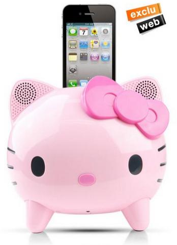 Kitschissime enceinte Hello Kitty pour iphone 4 en payant avec Buyster