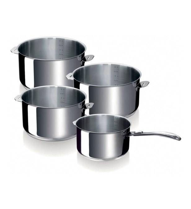 Lot de 4 casseroles BEKA Evolution - 14 à 20cm et poignée amovible