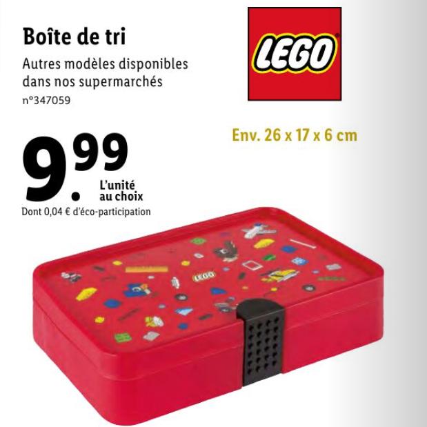 Boîte de rangement Lego - 26x17x6cm