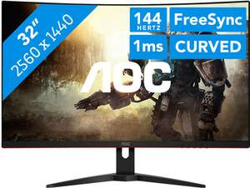 """Écran PC 31.5"""" AOC CQ32G1 - WQHD, Incurvé, Dalle VA, 144 Hz, 1 ms, FreeSync (Frontaliers Belgique)"""