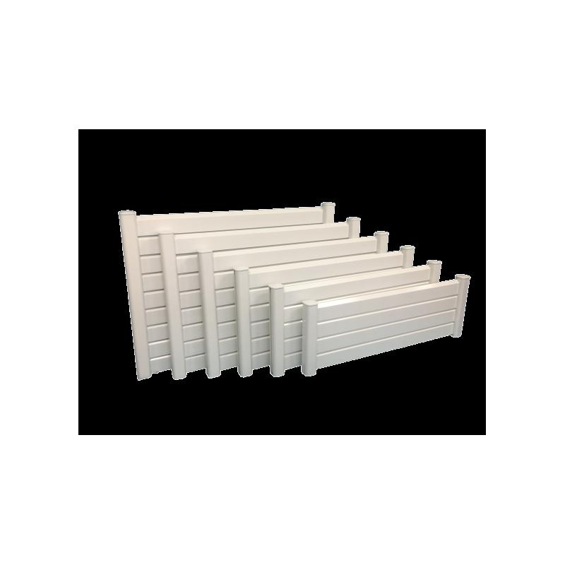 Kit de clôture en PVC (Coloris au choix) - Poteau + Chapeau + Collerette + Tige à sceller (mdprod.fr)