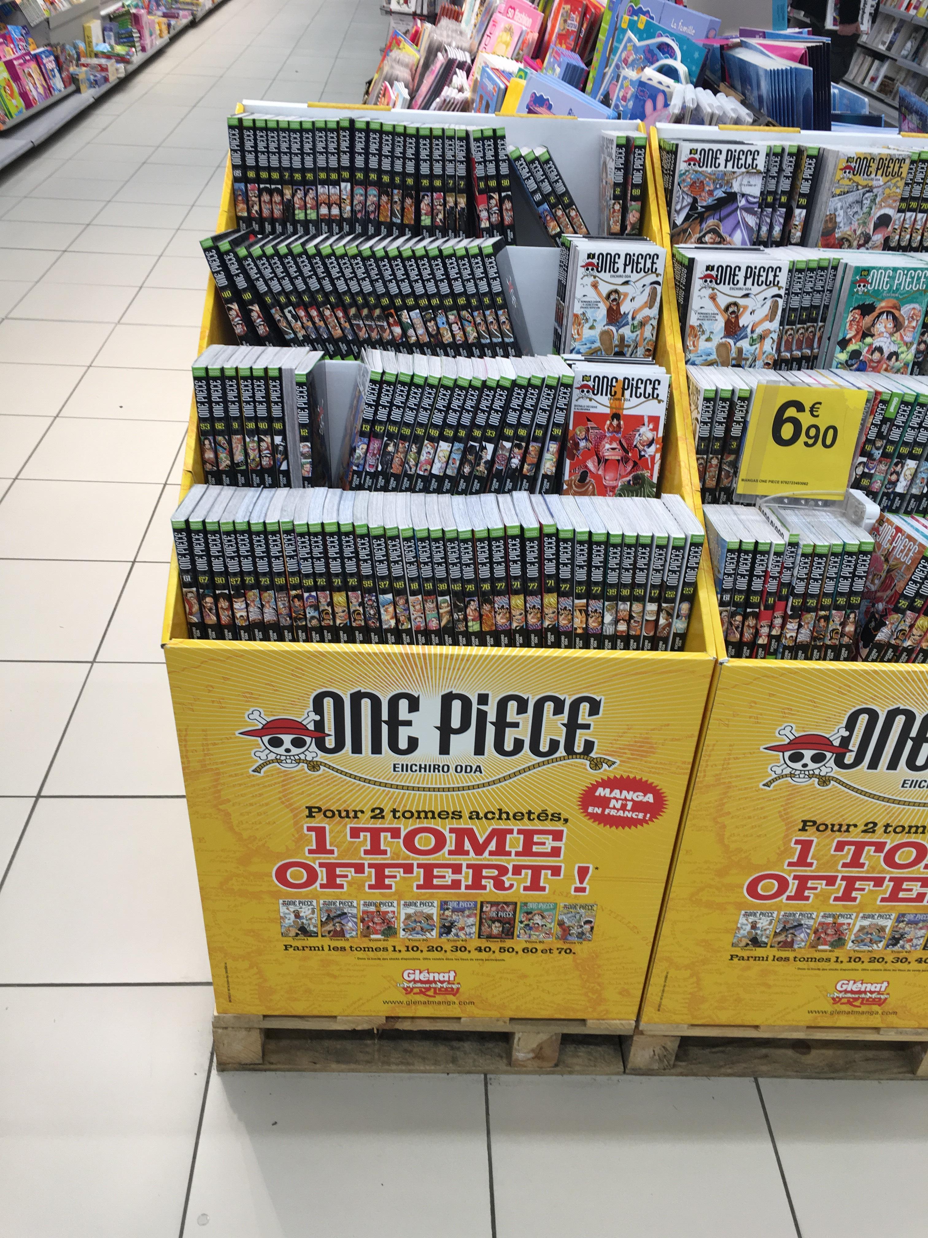 One Piece : 2 tomes achetés = le 3ième offert, soit les 3