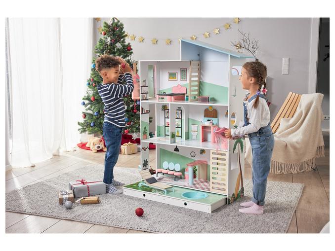 Maison de poupée XXL pour enfant - 15 pièces