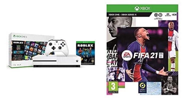 Pack Console Microsoft Xbox One S + Roblox + FIFA 21