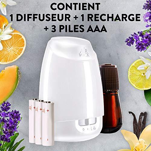 Diffuseur d'Huiles Essentielles Air Wick Essential Mist + 1 Recharge Parfum Thym Citron