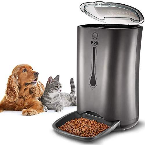 Distributeur automatique de croquettes pour chats & chiens Puppy Kitty - 6.5 L, argent (vendeur tiers)