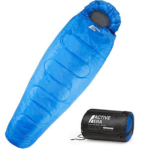 Sac de couchage Active Era 300GSM - confort 0 à 10°C, extrême jusqu'à -10°C, bleu (vendeur tiers)