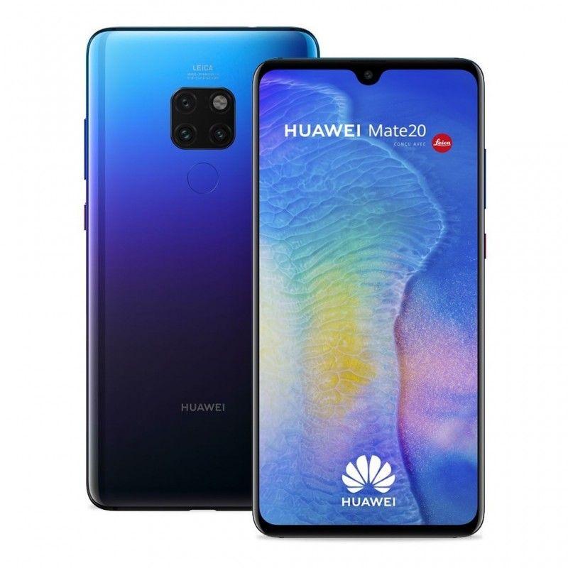 """Smartphone 6.53"""" Huawei Mate 20 - Full HD+, Kirin 980, 4 Go RAM, 128 Go, Noir (Frontaliers Suisse)"""