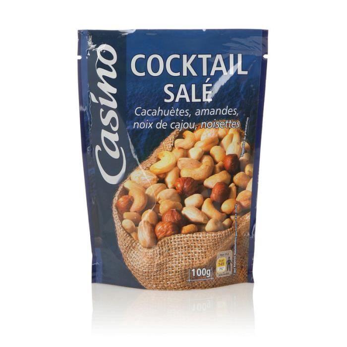 Paquet de Cocktail salé (cacahuètes, noix de cajou, noisettes, amandes) - 100 g