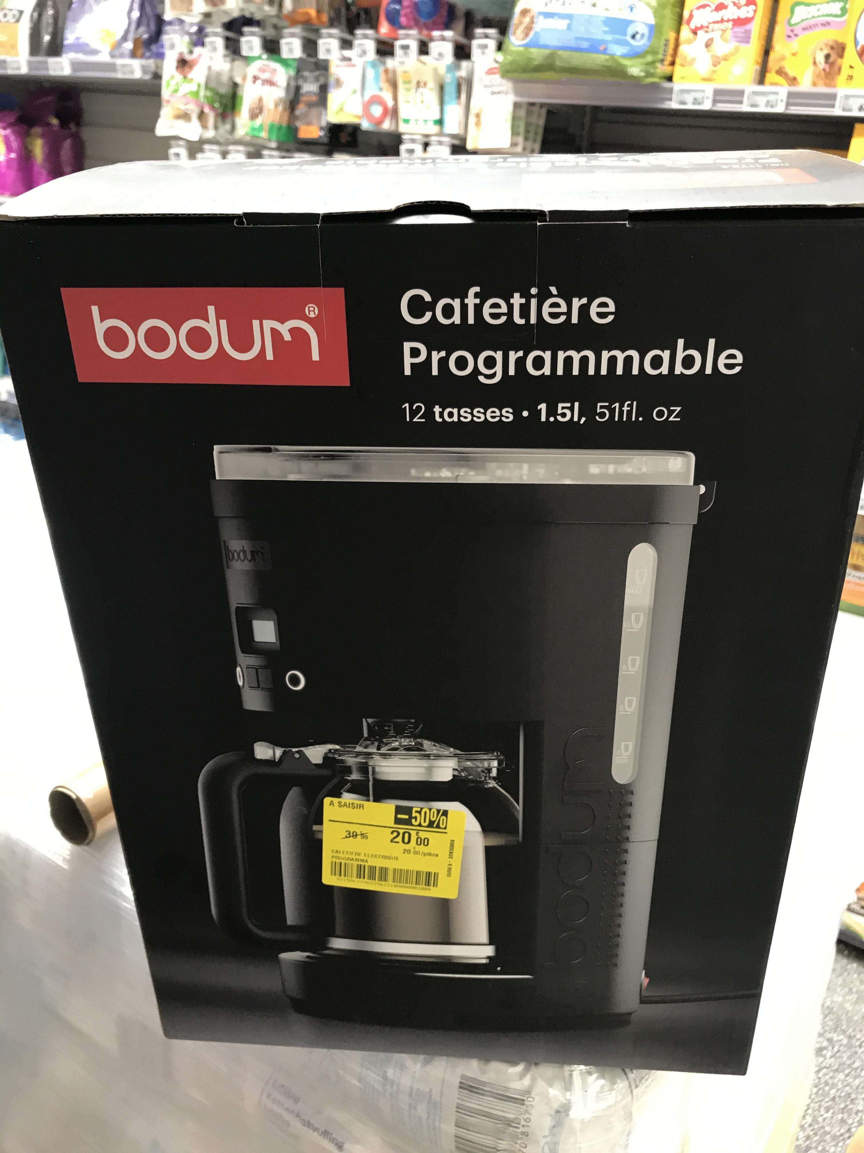50% de réduction sur les produits Bodum - Ex : Cafetière Programmable à Filtre Permanent - Bodum - Bordeaux Hugo (33)