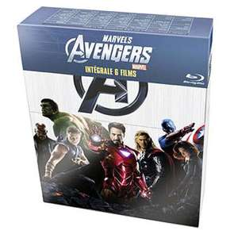 Coffret 6 Films L'Intégrale Marvel / Avengers Blu-Ray