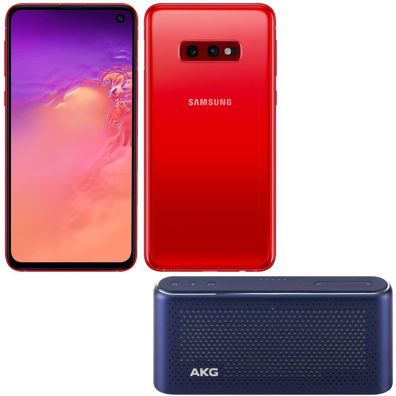 "Smartphone 5.8"" Samsung Galaxy S10e - Full HD+, Exynos 9 Series 9820, 6 Go RAM, 128 Go, Rouge + Enceinte bluetooth AKG S30 - Bleu"