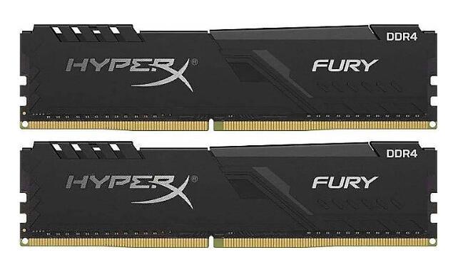 Kit Mémoire HyperX Fury - 32Go (2x16Go), DDR4, 3200 MhZ CL16 (Frontaliers Allemagne)