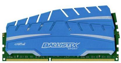 Kit mémoire Crucial Ballistix Sport XT (DDR3, 1866 MHz, Cas 10) - 16Go (2 x 8Go) à 62,99€ et 8Go (2 x 4Go)