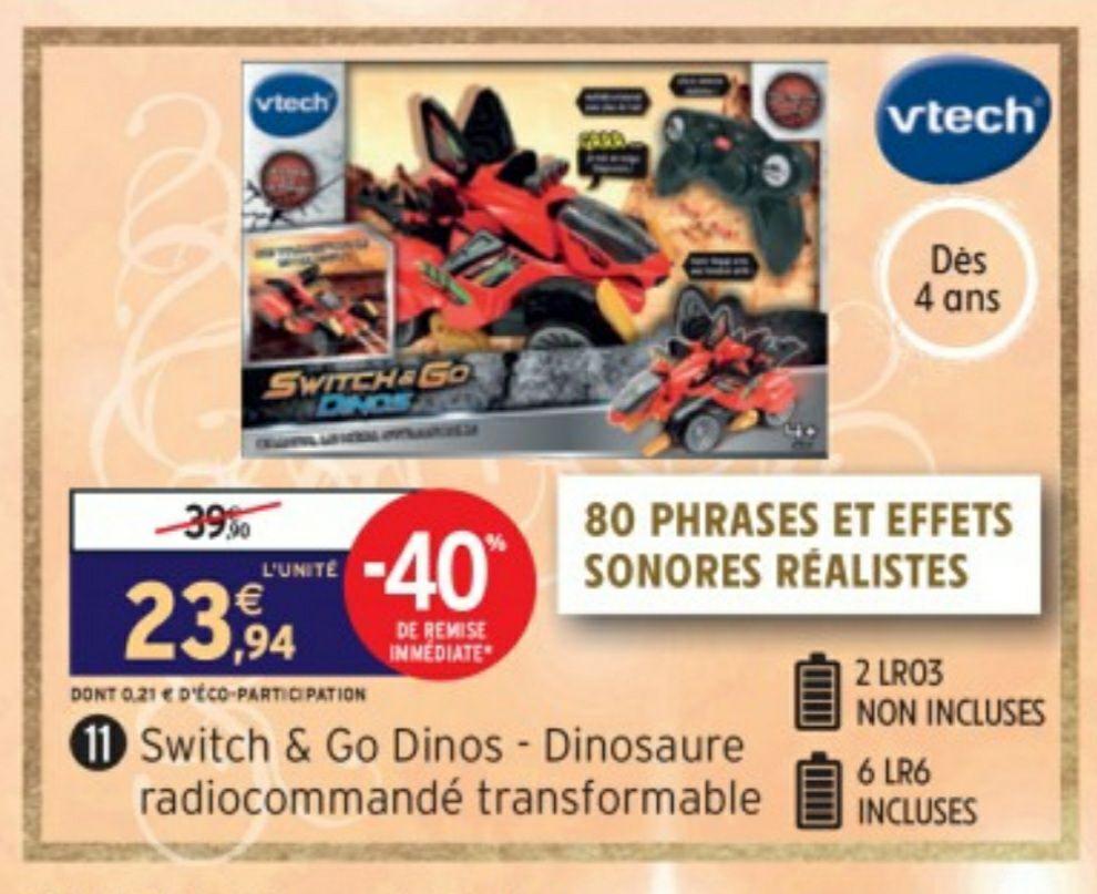 Jouet télécommandé VTech Switch & Go Dinos - Braxor, le méga Stégosaure RC