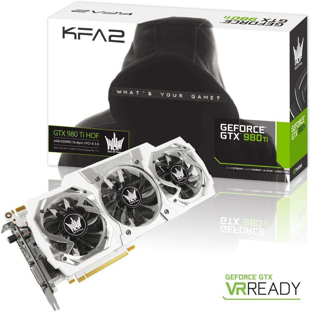 Carte graphique KFA2 GeForce GTX 980 Ti HOF, 6 Go