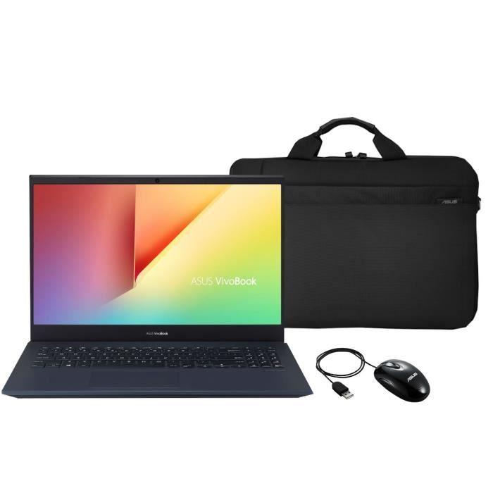 """Pack PC portable 15.6"""" Asus VivoBook (i5-8300H, GTX-1650 4 Go, 16 Go de RAM, 512 Go en SSD, sans Windows 10) + sacoche + souris"""