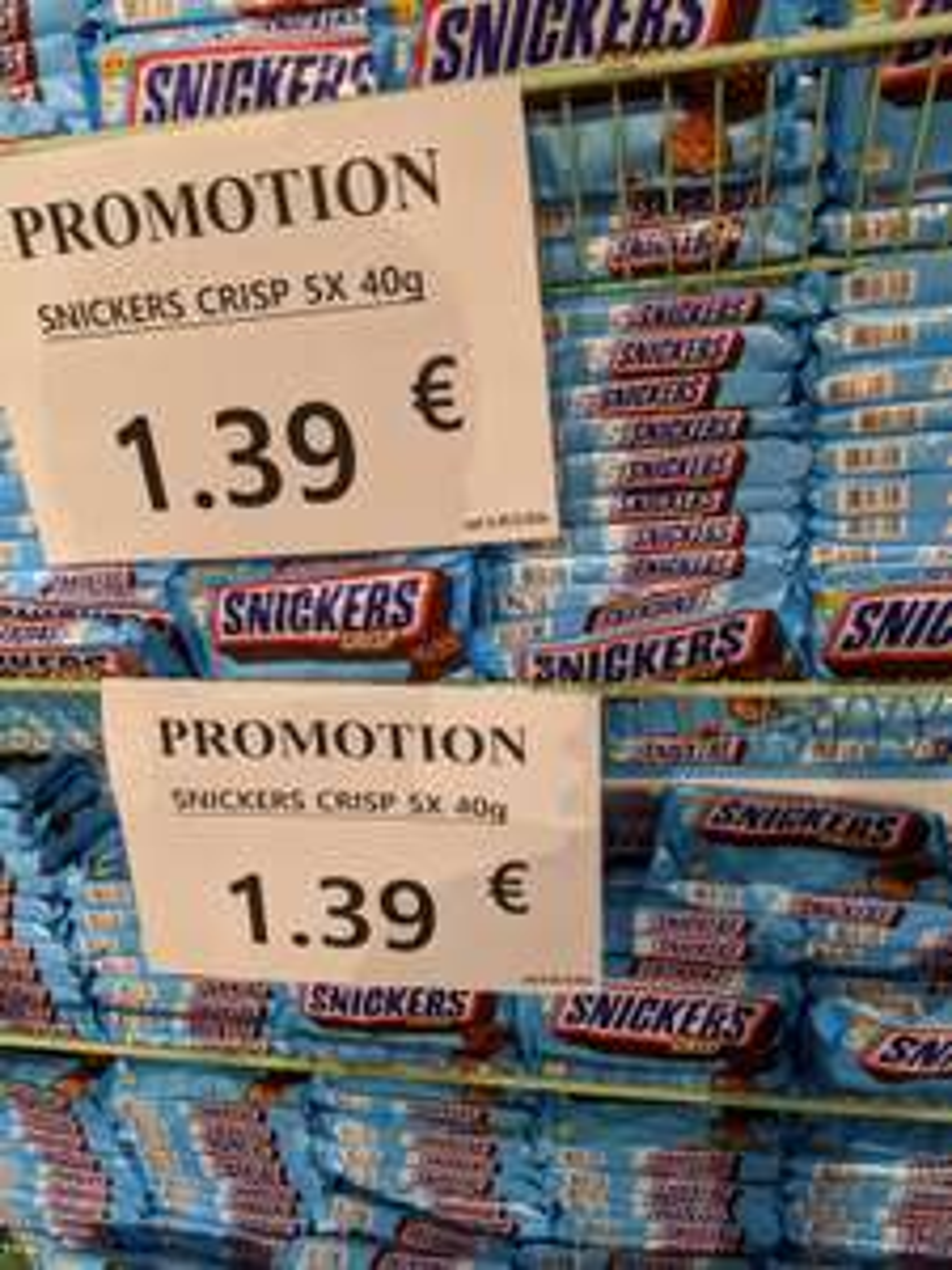 5 Snickers Crisp - Halles Market Bonneuil-sur-Marne (94)