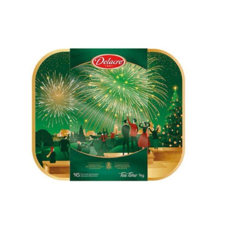 Boite de biscuits Delacre Tea Time - Boîte collector Noël, 1kg