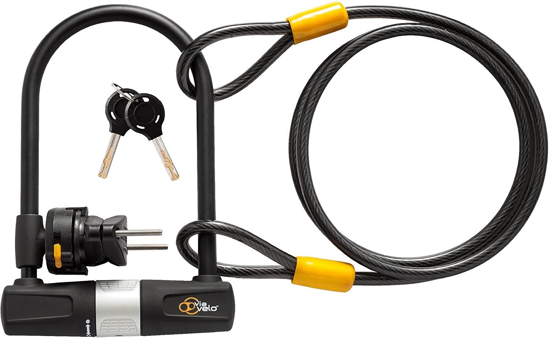 Antivol en U pour vélo avec câble Viavelo (Vendeur tiers)