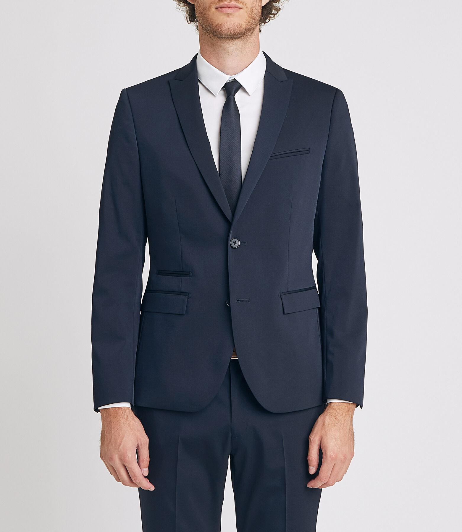 Veste de costume slim - Bleu Marine, Tailles 46 à 58