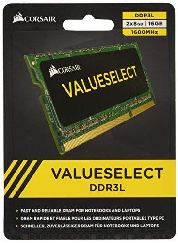 Mémoire RAM SODIMM (portable) Corsair Value Select - 16 Go (2 x 8 Go) (DDR3, , 1600 Mhz, CL11)