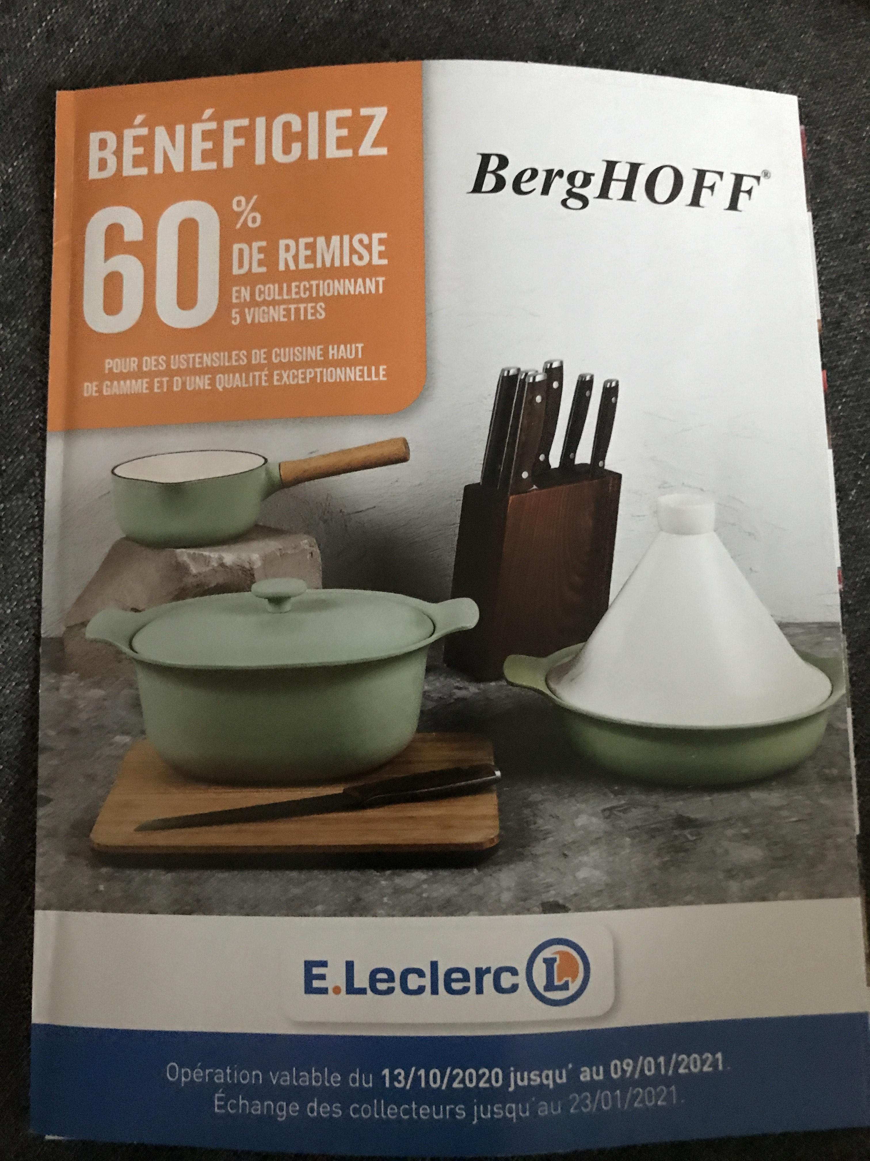 60% de réduction sur une sélection d'Ustensiles BergHOFF dès 5 vignettes collectées - Ex: Couteau d'office 12cm