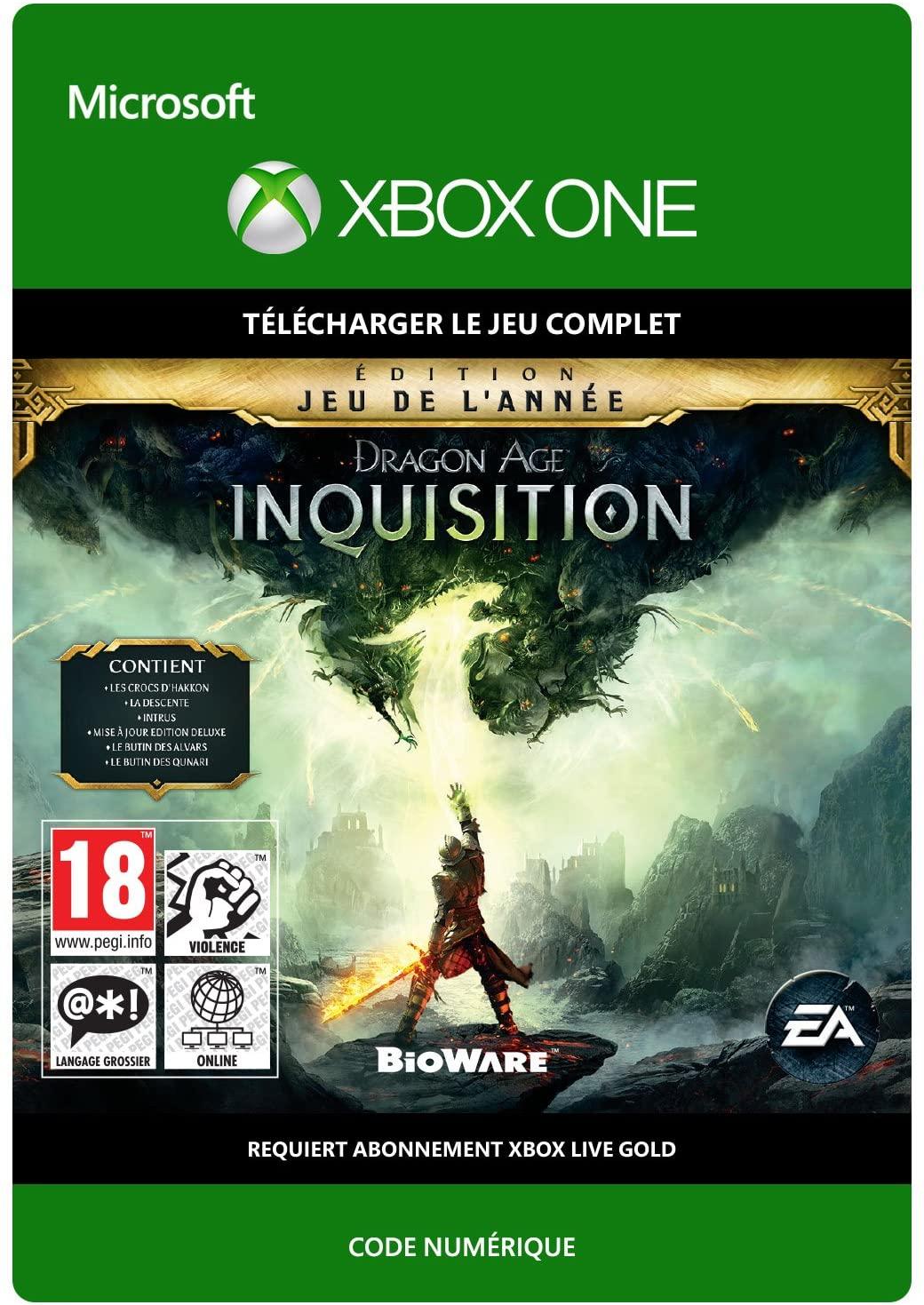 Jeu Dragon Age: Inquisition : Game of the Year sur Xbox One (Dématérialisé)