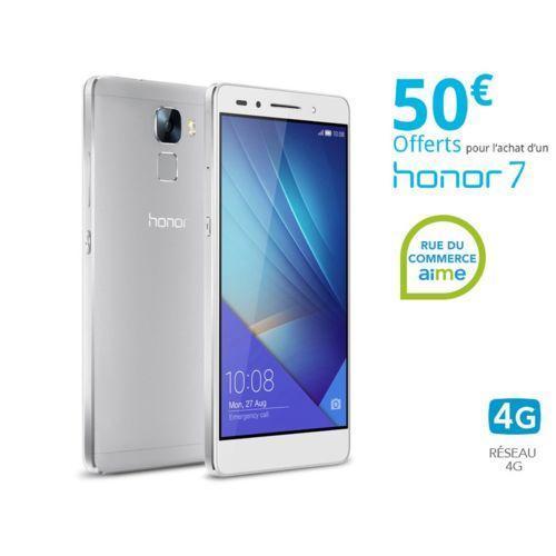"""Smartphone 5.2"""" Honor 7 Silver 16 Go (ODR de 50€)"""