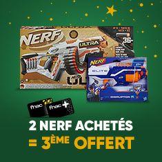 [Adhérents] 2 jouets Nerf achetés = Le 3ème offert parmi une sélection de produits (Le moins cher)