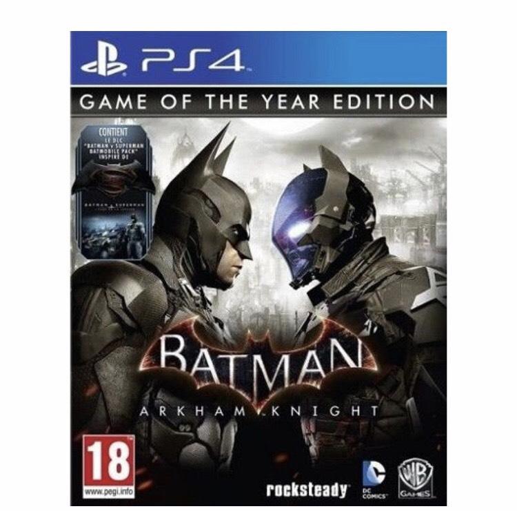 Batman - Arkham Knight - Game of The Year Edition sur PS4 (+ 0,73 € en Rakuten points)