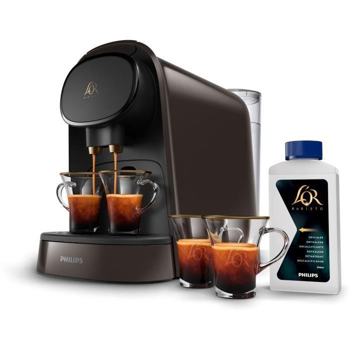 Machine à café à dosettes double espresso Philips L'or Barista LM8012/71 + 2 tasses + détartrant