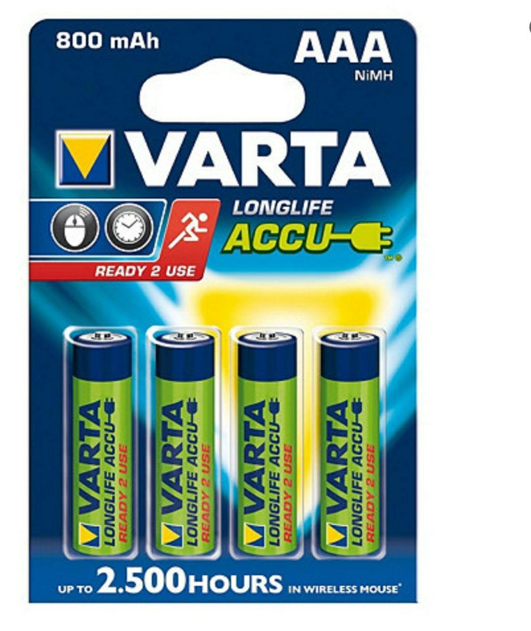 Lot de 4 Piles Rechargeables Varta HR03 56703101404 (Dans une sélection de villes)