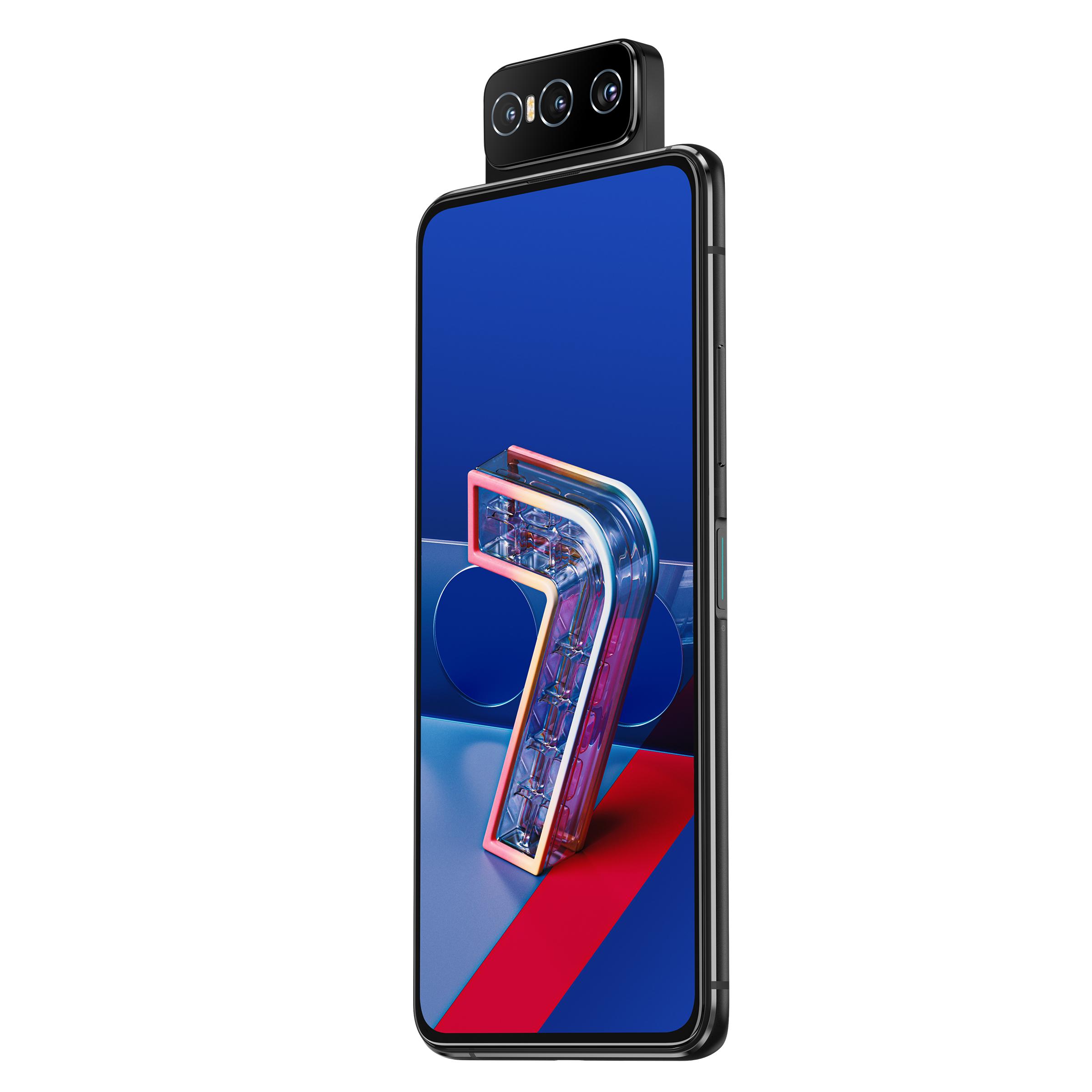 "Smartphone 6.67"" Asus ZenFone 7 - Full HD+, AMOLED 90 Hz NanoEdge, SnapDragon 865, 8 Go de RAM, 128 Go, 5G, 64 Mpix"