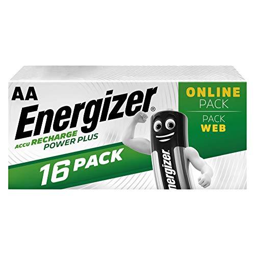Lot de 16 Piles Rechargeables AA Energizer - Recharge Power Plus, 2 000 mAh