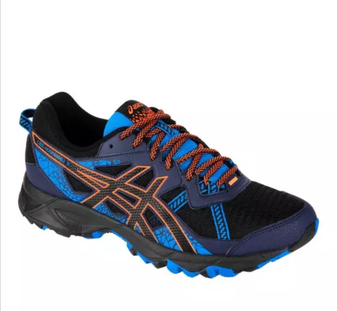 Chaussures de trail Asics Gel Kanaku 3 pour Homme - Bleu/Orange, Tailles 41.5 à 47