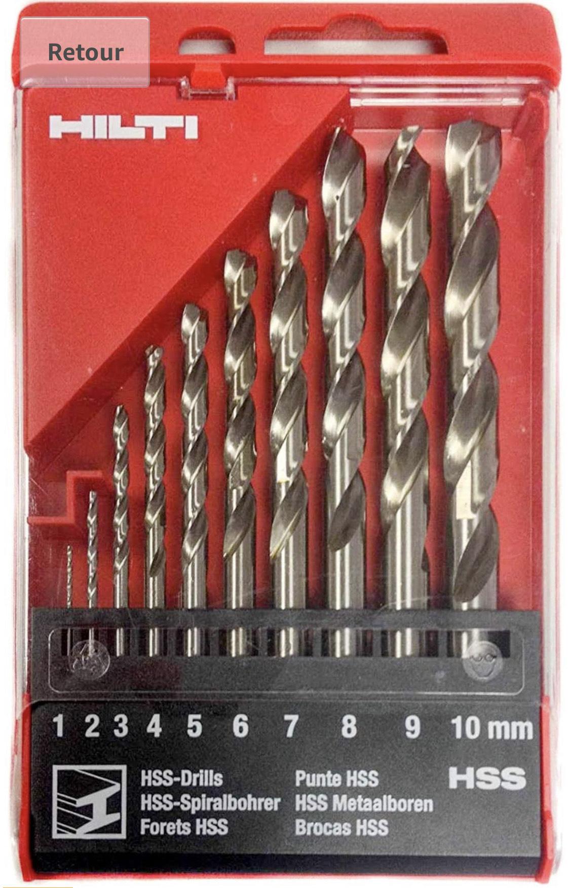 Kit de mèches à spirale pour métal Hilti (Vendeur Tiers)
