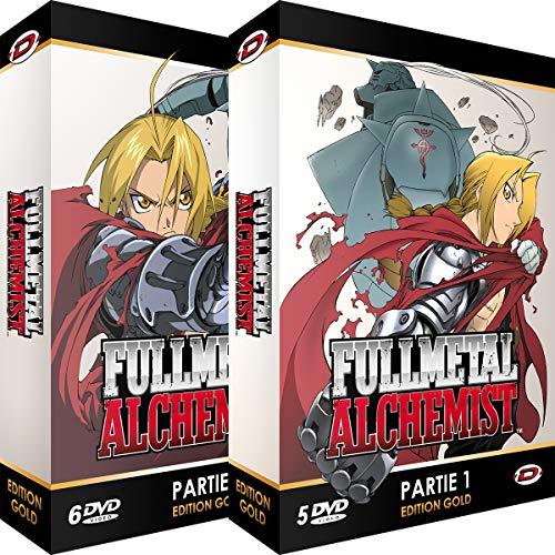Coffret DVD Fullmetal Alchemist - Intégrale Edition Gold - 2 Coffrets / 11 DVD + Livrets (vendeur tiers)