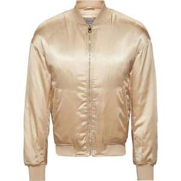 Blouson satiné femme bomber Calvin Klein - Couleur crème Taille S
