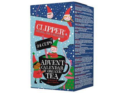 Calendrier de l'Avent Thé Bio Clipper - 24 sachets de thés et d'infusions Bio