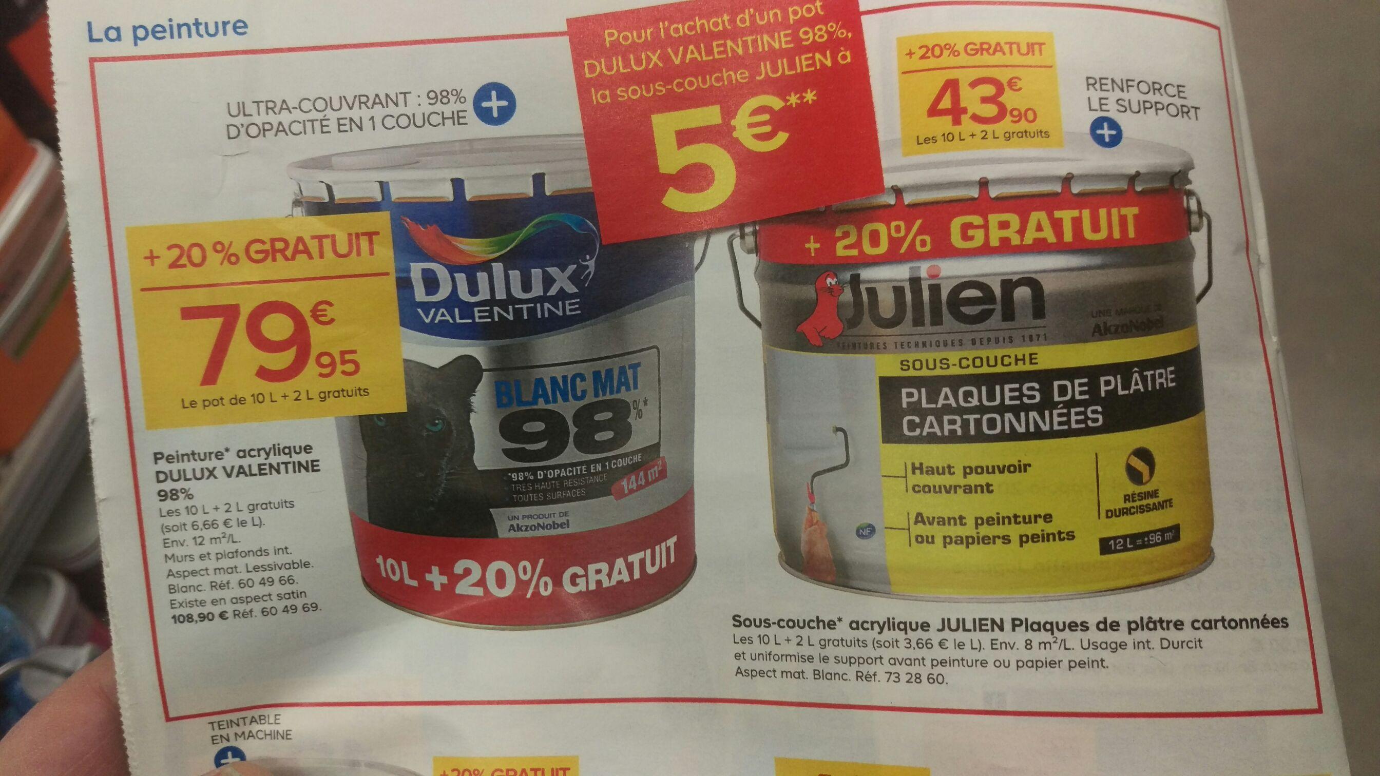 Peinture dulux valentine 98 12l sous couche julien placo 12l - Sous couche peinture julien ...